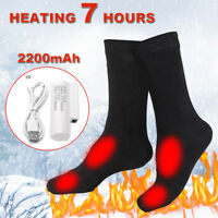 Electric Thermal Heated Socks Winter Heat Feet Foot Warmer USB 3.7V Battery