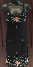 CACHE  Embellished BEADED COCKTAIL Sexy DRESS BLACK  Size 2