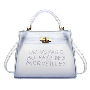 Colourful Trendy Clear Un Voyage Au Pays Handbag Cross Body Tote Shoulder Bag