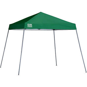Quik Shade Expedition 10'x10' Instant Pop Up Outdoor Canopy Tent Shelter, Green