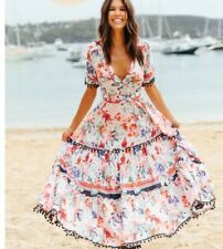 Jaase Bamboo Malone Maxi Dress BNWT Size XS Boho Festival Summer Bohemian Floral