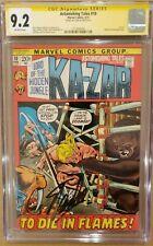 Astonishing Tales #10 Kazar CGC 9.2 NM- SS Stan Lee OW