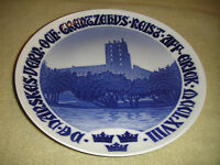 Vintage B&G Bing & Grondahl Kjobenhavn Castle Water Plate Marked Bottom Denmark