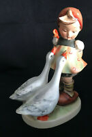 "Goebel Hummel Crown Mark ""Goose Girl"" Girl with 2 Geese #47/0 5 1/8"""