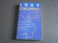 PEUGEOT brochure catalogue document interne VP-VU concurrence - 1989 - très rare