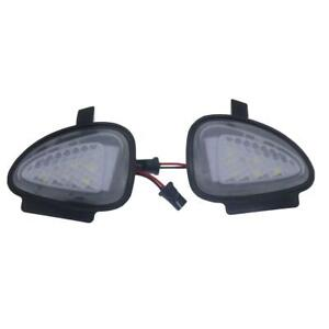 2x Error Free WHITE UNDER MIRROR LED PUDDLE LIGHT For vw Golf MK6 GTI Cabriolet