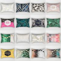 Rectangle Geometric Throw Pillow Case Cushion Cover Sofa Bed Car Cafe Decor Myst