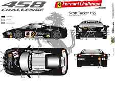 [FFSMC Productions] Decalcomanie 1/18 Ferrari F-458 1a déco 2012 Scott Tucker