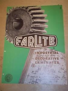 Farley&Loetscher Mfg Co Catalog~Asbestos~Farlite Laminated Plastics~Dubuque IA