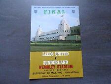1972 Leeds United v Sunderland - FA Cup Final Programme - Wembley Golden Jubilee