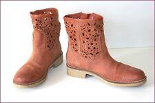 GEOX Bottines Boots Cuir Ajouré T 37 TBE