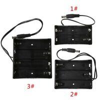 2x 3x 4x 18650 Battery Holder Storage Case Box DIY With DC Power Plug 5.5x2.1mm