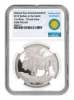 2019 Smithsonian Zoo Buffalo 1 oz Silver Commemorative Medal NGC GEM PF SKU55675