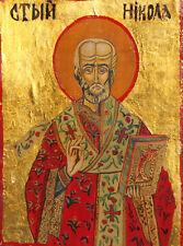 New listing Orthodox Tempera Wood Hand Painted Icon Saint Nicholas