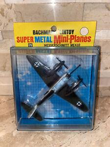 Bachmann Lintoy Super Metal Mini Planes 09 Messerschmitt ME-410 VINTAGE