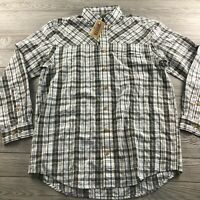 Duluth Trading Co Men's Plaid Long Sleeve Button Up Shirt Size L Tall New NWT