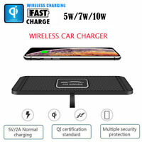 2 in 1 Qi Wireless Car Charger Silicone Pad Phone Dash Mount With GPS Holder