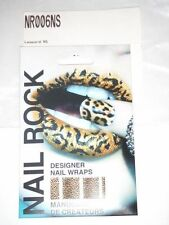 NAIL ROCK Designer Nail Wraps - NR006NS - Leopard - Made in UK - NEW