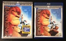 Disney The Lion King 3D Blu-Ray 4-Disc Combo DVD + Lenticular SlipCover OOP Rare