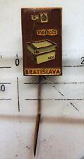 Meopta projector crest badge brown stick pin anstecknadel