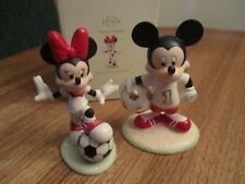 Lenox Disney Soccer Stars MICKEY & MINNIE Mouse Figurines Together New In Box