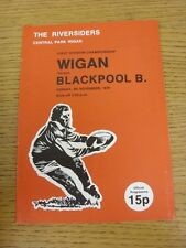 04/11/1979 Rugby League Programme: Wigan v Blackpool Borough