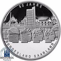 Deutschland 10 Euro Bundesland Saarland 2007 Silber-Gedenk-Münze Spiegelglanz