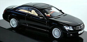 Mercedes Benz CL Class C 216 Coupe 2006-10 Obsidian Black Metallic 1:43 Autoart