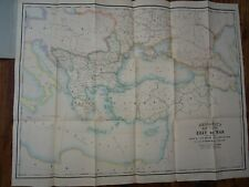 1850 MAP OF SEAT OF CRIMEAN WAR MALTA TO CASPIAN SEA TURKEY RUSSIA BY GELLATLY ^