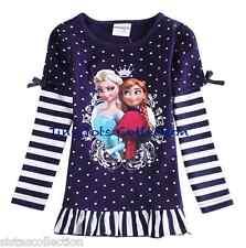AUS Seller NEW with tags girls Frozen Elsa Anna long sleeve top shirt size 2