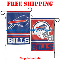 "Buffalo Bills Logo Garden Outdoor Flag Double Sides 12x18"" NFL 2019 Fan NEW"