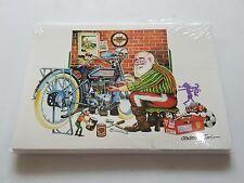 HARLEY DAVIDSON CHRISTMAS CARDS #X511 SANTA BIKER WORKING ON HIS PANHEAD (10)