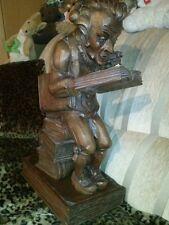 Holzfigur Bücherwurm  Spitzweg?
