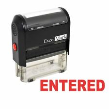 ENTERED - ExcelMark Self-Inking Rubber Stamp - A1539 Red Ink