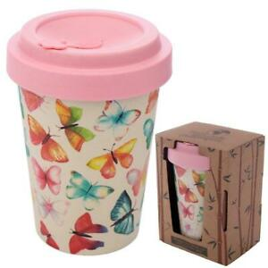 Butterfly House Reusable Screw Top Bamboo Composite Travel Mug