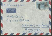 LIBERIA TO GERMANY OLD AIRMAIL COVER VF