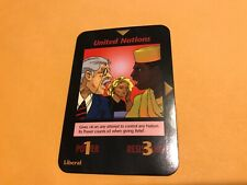 UNITED NATIONS: Illuminati INWO CCG One With All Edition, Group card, Liberal UN
