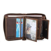 RFID Men's Leather Wallet Money Purse Bag ID Credit Card Holder Zip Coin Pocket