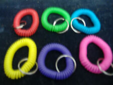 6 SPIRAL WRIST COIL KEY CHAIN RING