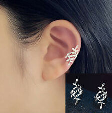 Women Girl Ear Cuff Clip Ear Warp Fashion Silver Earring 1 Pair Cute Gift - LS2