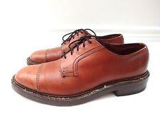 Vintage 40's 50's JOHN MCHALE Leather Cap Toe Derby Shoes Hartt Lobb sz. 8.5