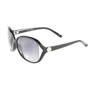 GUESS Oversized Logo Oval Side Cutout Sunglasses GGU1114 - Polished Black NEW