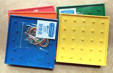 "Six, 5"" GeoBoards, 5 Pin Square /13 Pin Circle, Umbrella Pinheads X20325"