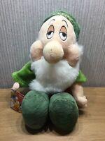 Disney Sleepy Plush Teddy Soft Toy Snow White 7 Dwarfs 15 Large NEW Stamped