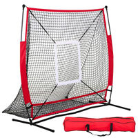 5x5' Baseball Practice Net Pitching Batting Hitting Strike Zone Softball Thrower