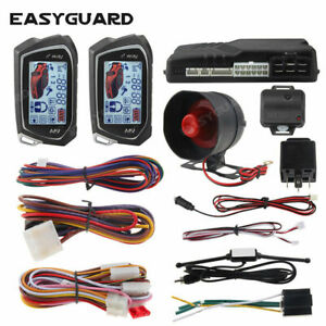 EASYGUARD 2 way car alarm remote start system turbo timer mode keyless go