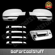 For Chevy Silverado 2007-13 Chrome Full Mirror Door Handle Tailgate Trunk Cover