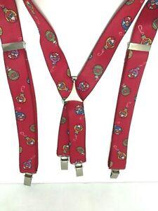 Vintage Santa Claus Suspenders Braces Made In West Germany Christmas Ornament