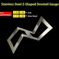 Dovetail Marker Template Stainless Dovetail Gauge Size 1:5-1:6 and 1:7-1:8 B6B0