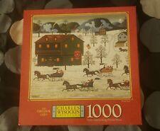 Charles Wysocki Puzzle SLEIGH RACE 1000 PC